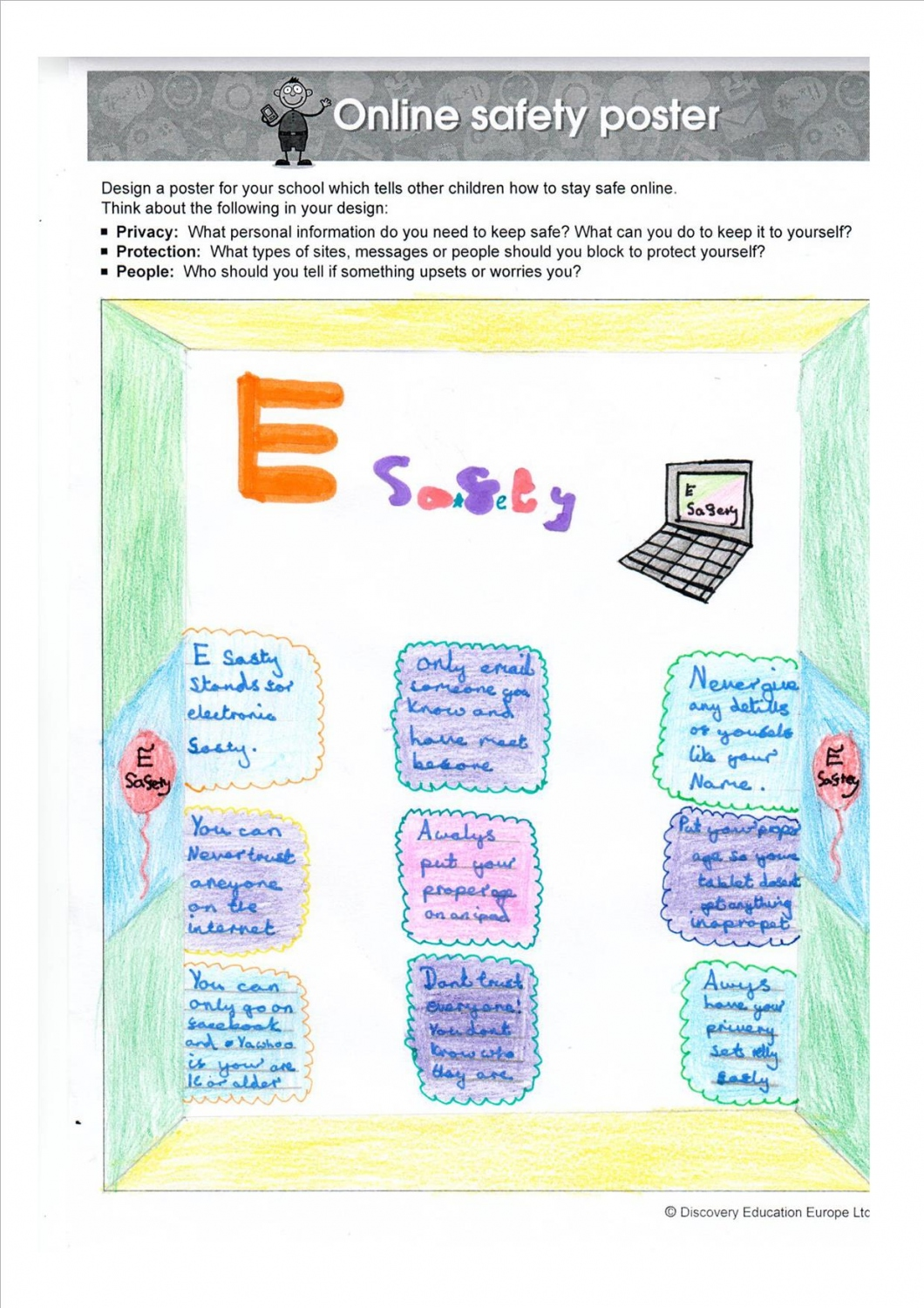 E safety poster designs - Poster 1 Poster 2